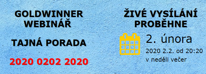 Goldwinner webinář & tajná porada. Smart cíle zlatého vítěze 2020