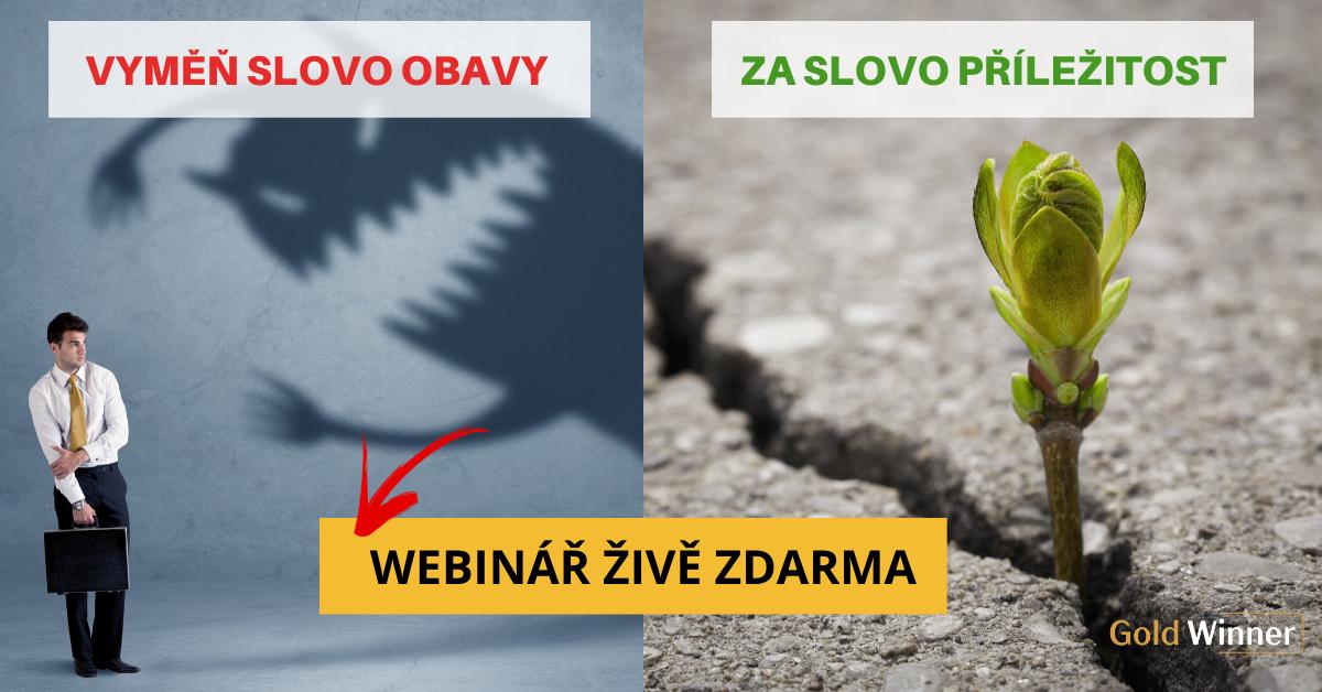 Webinář Vyměň slovo obavy zaslovo příležitost! 31.3.2020 od 20:00